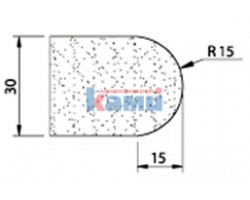 Комплект инструмента по камню Ghines профиль V30 r15 Ø35 мм