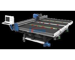 Автоматические столы с ЧПУ для прямолинейного и фигурного раскроя стекла JET Glass. Модели JKM 2420, JKM 3826, JKM3829