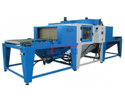 Автоматическая горизонтальная установка для пескоструйной обработки стекла SCV System. Модель Kufra H