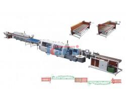 Автоматическая линия кромкооблицововки с подающим и принимающим устройствами