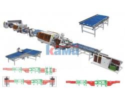 Автоматическая двухсторонняя линия кромкооблицовки и присадки FILATO