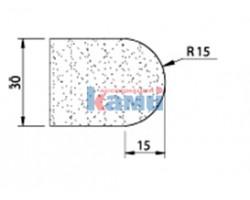 Комплект инструмента по камню Ghines профиль V30 r15 Ø22,2 мм
