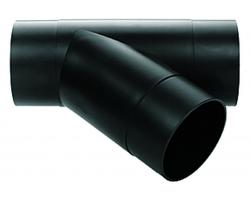 Y-образный разветвитель, ø100 мм, низкое сопротивление потоку