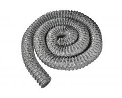 Гибкий негорючий воздуховод до +300°С, 2,5 м, ø75 мм, стенка 0,5 мм